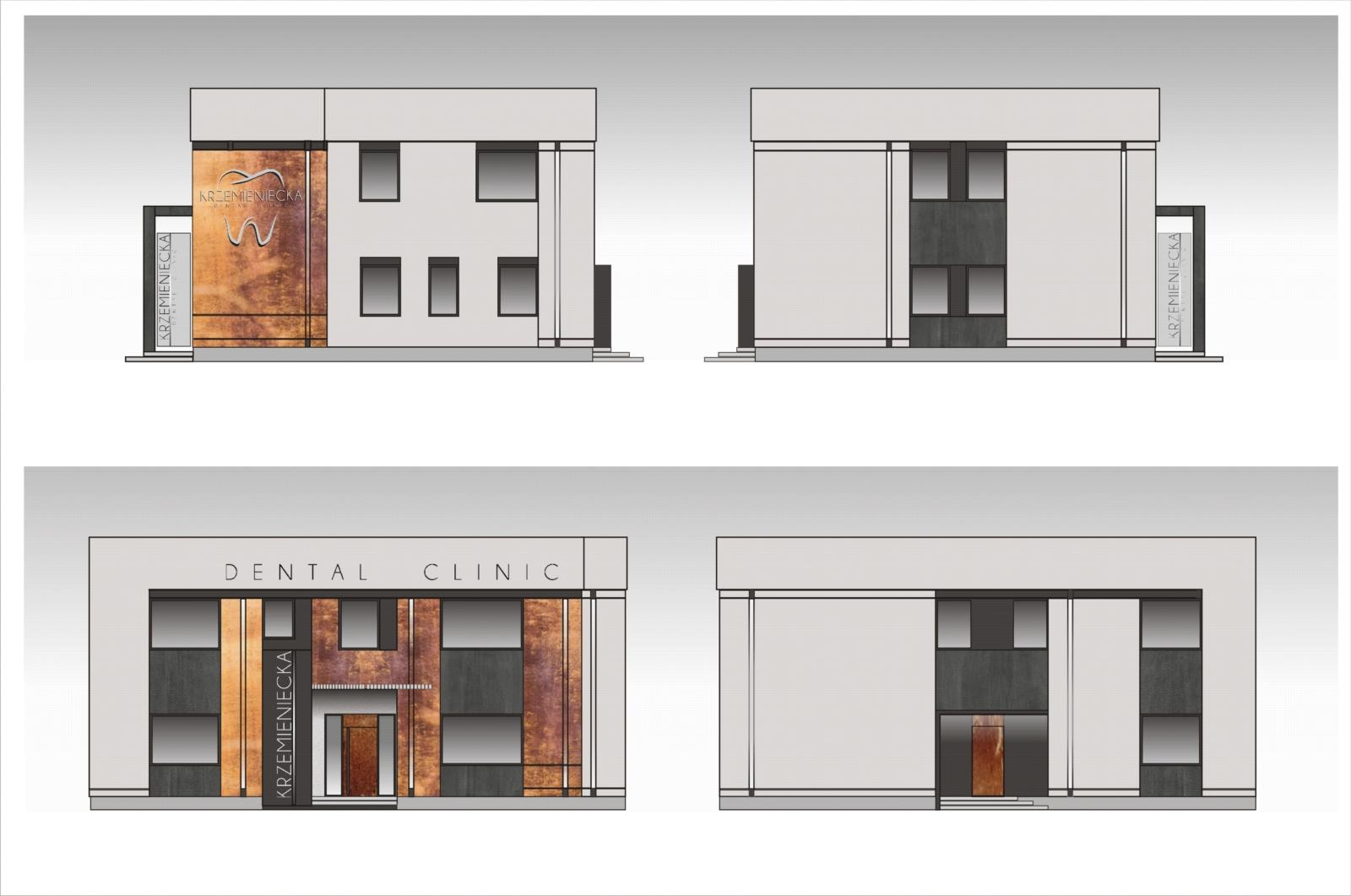 Projekt elewacji Kliniki w Lubinie 2