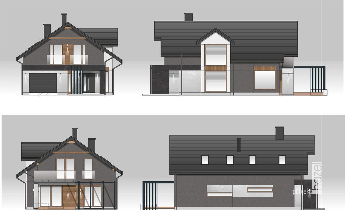 Projekt elewacji domu w Krakowie